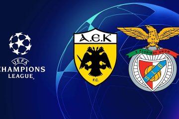Champions League AEK vs Benfica